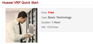 Huawei VRP quick start